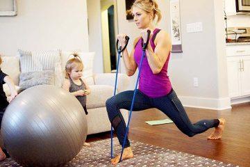 Упражнения с фитнес резинкой на верхнюю часть тела